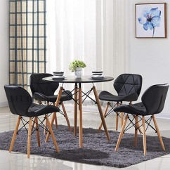 Set DSW Table-08 + 4 ghế MT09 Eames