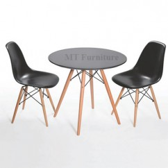 Set bàn DSW Table-06 + 2 ghế DSW eames